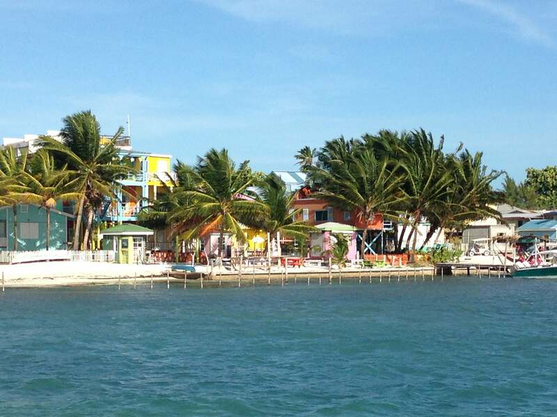 Coming up to the point ferry dock of Caye Caulker.