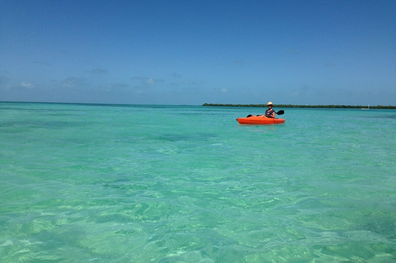 Kayaking around Caye Caulker.  So peaceful and beautiful.