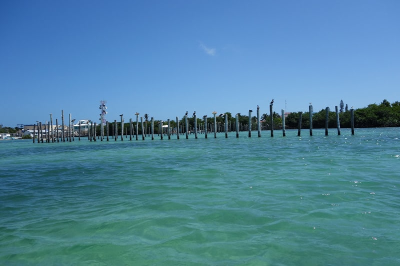 Taking a cruise around the small island of Caye Caulker, Belize.